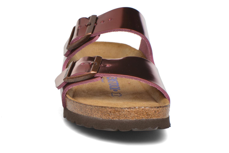 Mules et sabots Birkenstock Arizona W Bordeaux vue portées chaussures