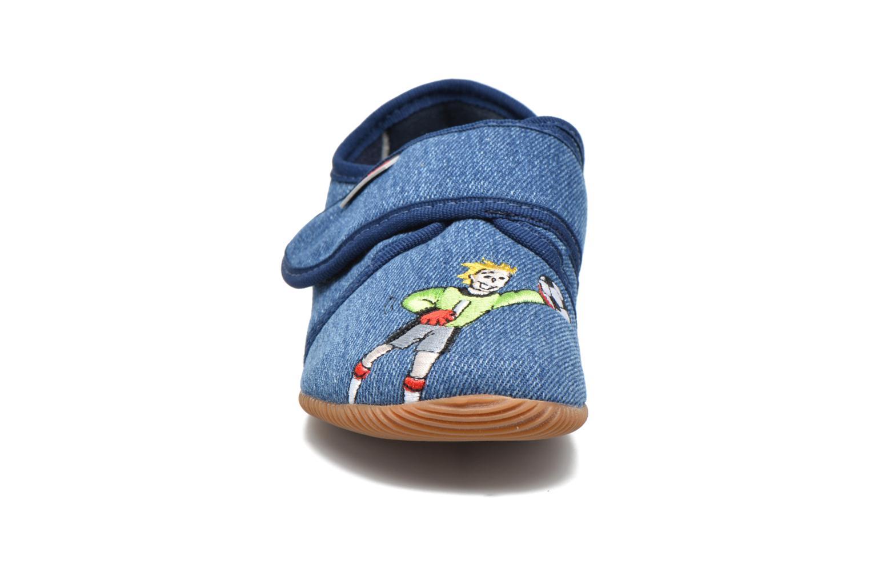 Chaussons Giesswein Sulzemoos Bleu vue portées chaussures