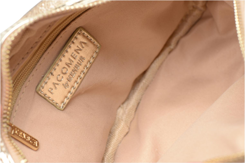 Handtassen Menbur BRAZZAVILLE Goud en brons achterkant
