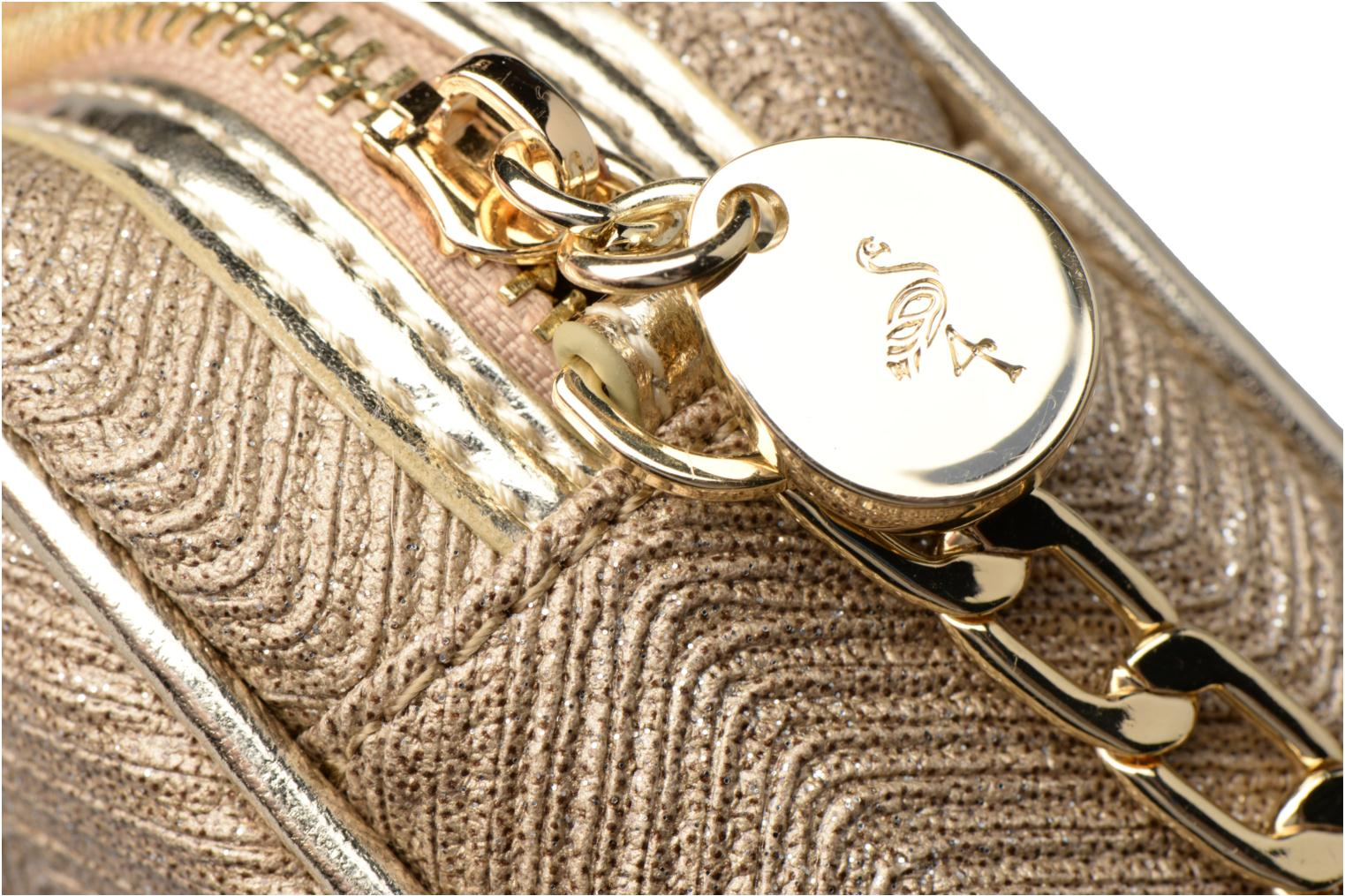 Handbags Menbur BRAZZAVILLE Bronze and Gold view from the left