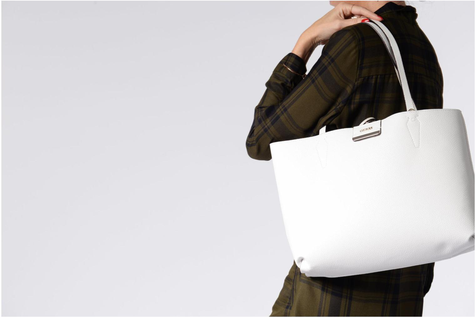 Sacs à main Guess Bobbi Inside Out Tote Gris vue haut