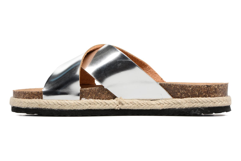 Zuecos I Love Shoes KANE Plateado vista de frente