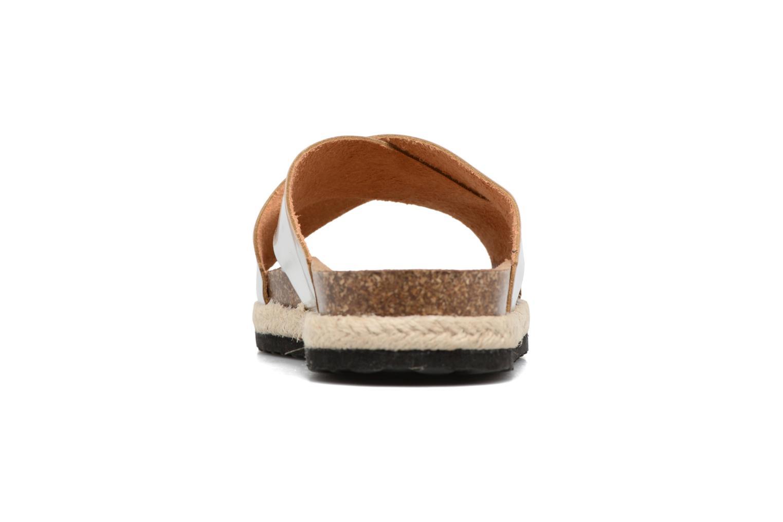 Zuecos I Love Shoes KANE Plateado vista lateral derecha