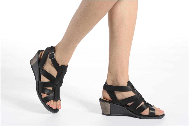 Sandales et nu-pieds P-L-D-M By Palladium Shannon Vgt Noir vue bas / vue portée sac