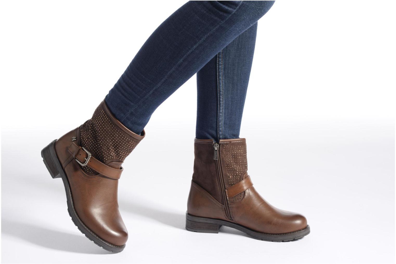 Bottines et boots Refresh Elisa-61425 Marron vue bas / vue portée sac