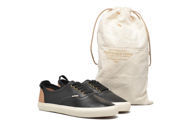 Baskets Levi's White Tab Sneaker Low Noir vue 3/4