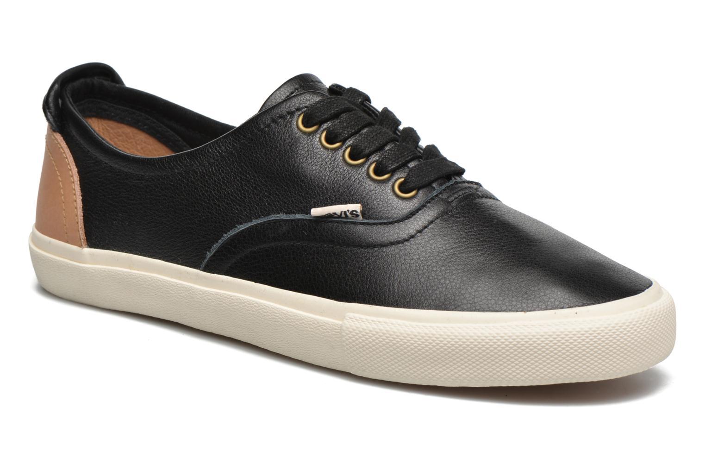 Baskets Levi's White Tab Sneaker Low Noir vue détail/paire