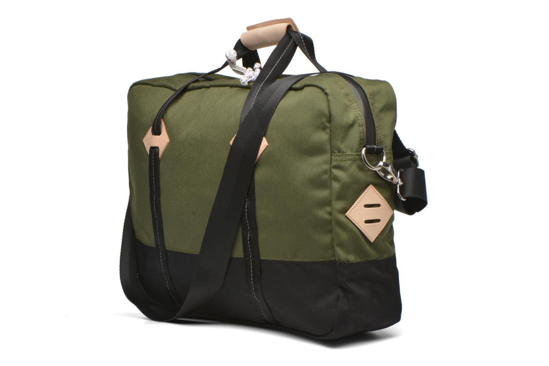 Colorblock Messenger bag Dull green