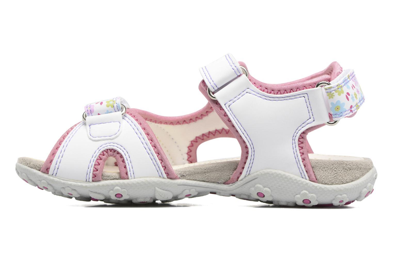 Sandales et nu-pieds Geox J S.Roxanne J52D9A Blanc vue face