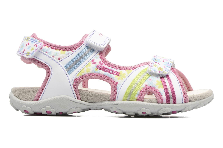 Sandales et nu-pieds Geox J S.Roxanne J52D9A Blanc vue derrière