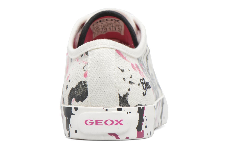 Baskets Geox J Ciak G. D J7204D Blanc vue droite