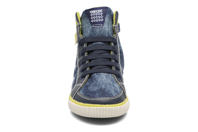 Baskets Geox J Kiwi B. O - J72A7O Bleu vue portées chaussures