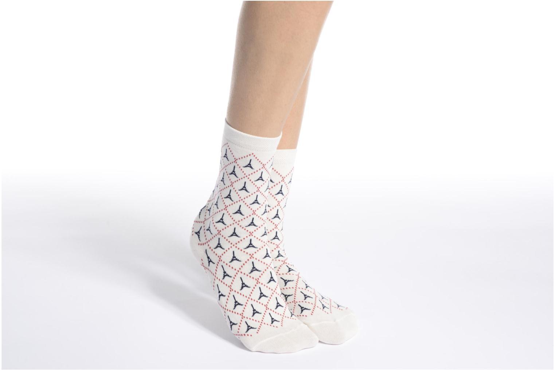Strømper og tights My Lovely Socks Chaussettes Mi-Mollets ROSALIE Hvid se foroven