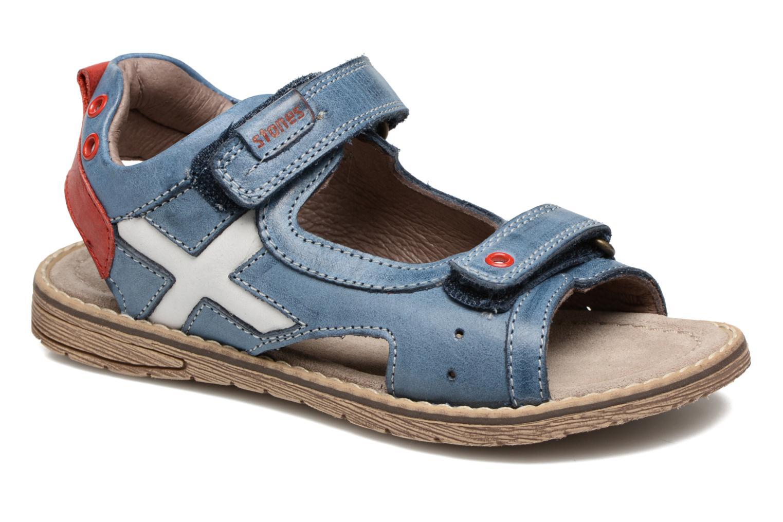 Sandales et nu-pieds Stones and Bones Desto Bleu vue détail/paire
