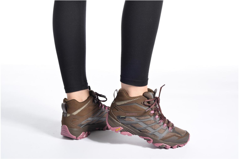 Chaussures de sport Merrell Moab FST Mid Gtx W Marron vue bas / vue portée sac