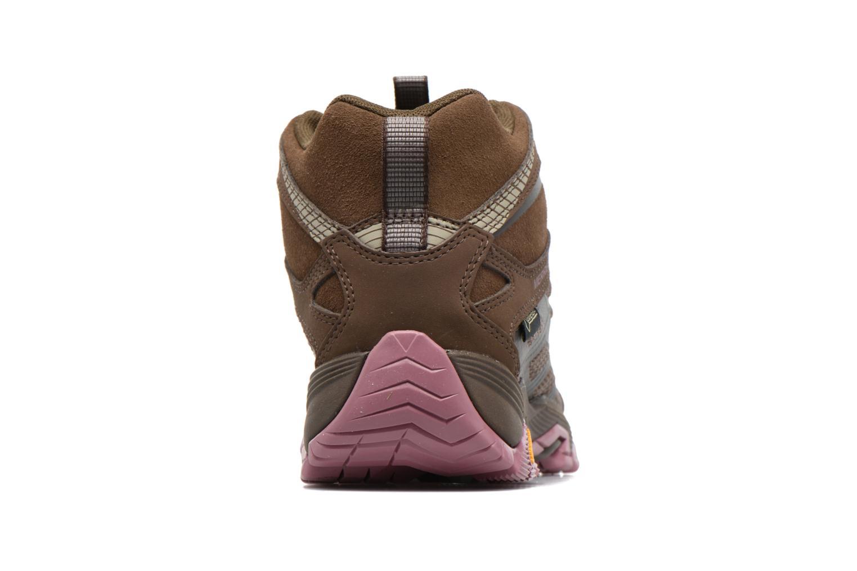 Chaussures de sport Merrell Moab FST Mid Gtx W Marron vue droite