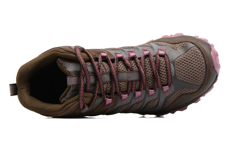 Chaussures de sport Merrell Moab FST Mid Gtx W Marron vue gauche