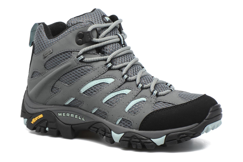 Chaussures de sport Merrell Moab Mid Gtx W Gris vue détail/paire