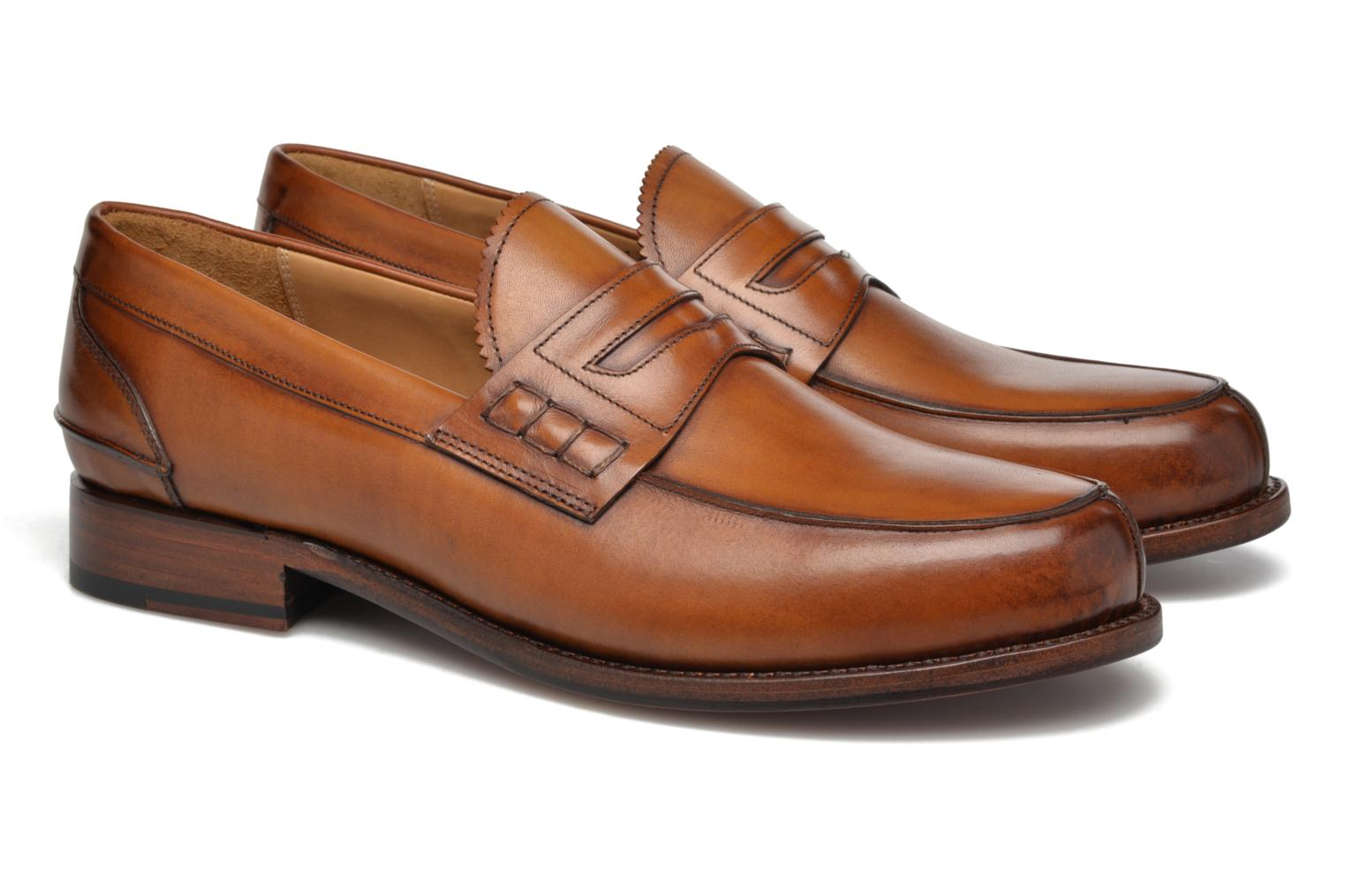 Mocassins Marvin&Co Luxe Walsall - Cousu Blake Marron vue 3/4