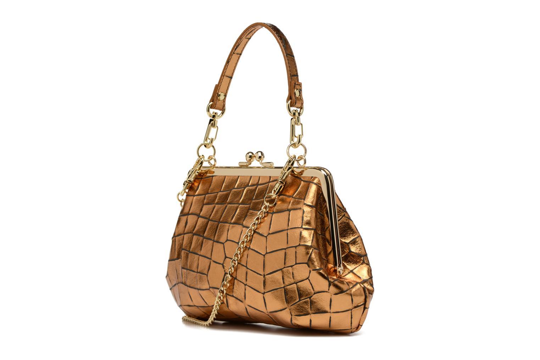 Sacs à main Vivienne Westwood Armour Handbag Or et bronze vue droite