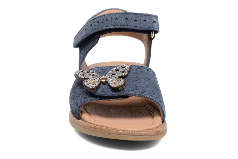 Sandales et nu-pieds Bisgaard Albilda Bleu vue portées chaussures