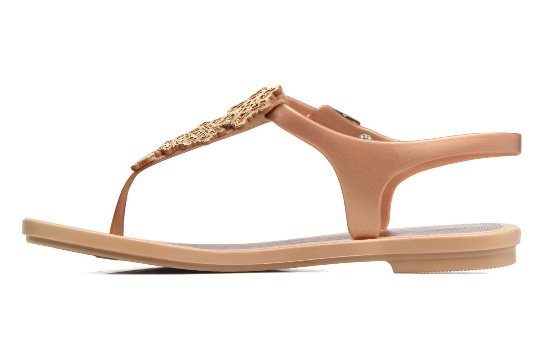 Sandalias Grendha Romantic Sandal Fem Marrón vista de frente