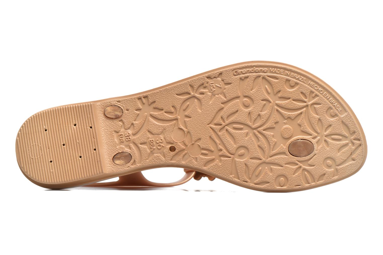 Sandalias Grendha Romantic Sandal Fem Marrón vista de arriba