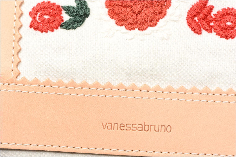 Sacs à main Vanessa Bruno Cabas lin brodé M+ Blanc vue gauche