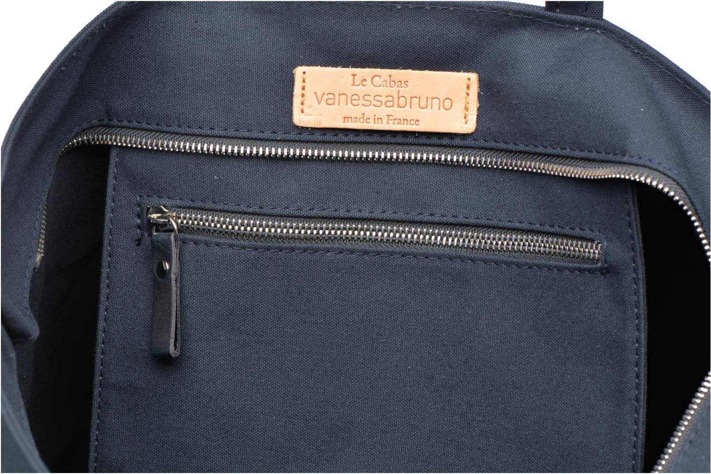 Sacs à main Vanessa Bruno Cabas coton zippé paillettes M+ Bleu vue derrière
