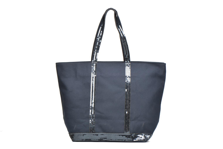 Sacs à main Vanessa Bruno Cabas coton zippé paillettes M+ Bleu vue détail/paire
