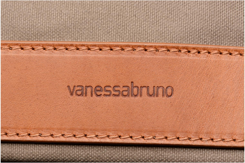 Sacs à main Vanessa Bruno Cabas coton et cuir M+ Vert vue gauche