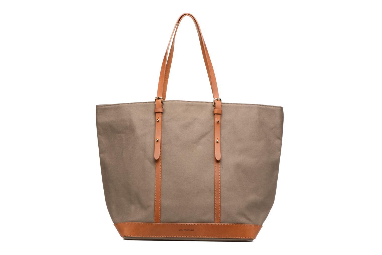 Sacs à main Vanessa Bruno Cabas coton et cuir M+ Vert vue détail/paire