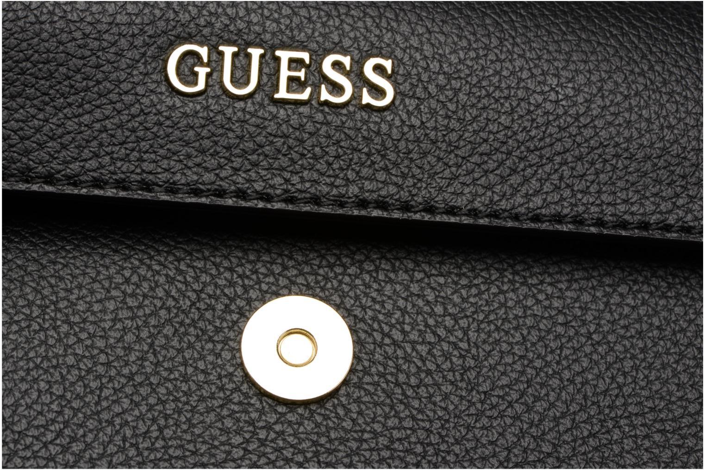 Sacs pochettes Guess TULIP Envelope clutch Noir vue gauche