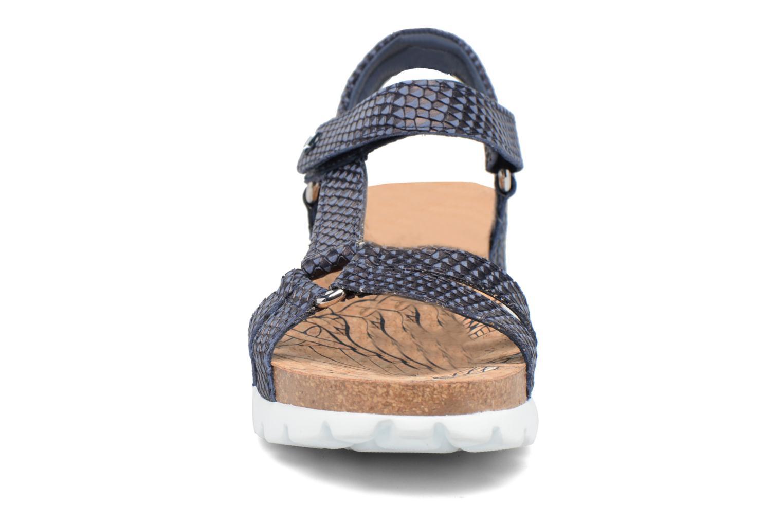Sandalen Panama Jack Sally snake blau schuhe getragen