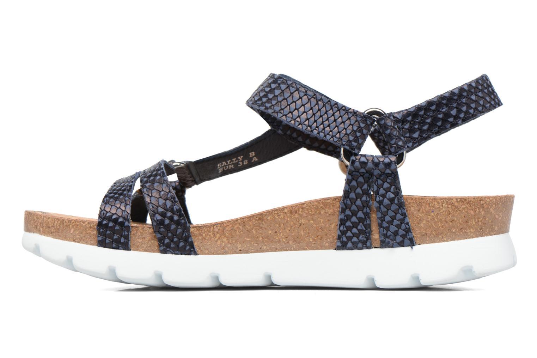 Sandalen Panama Jack Sally snake blau ansicht von vorne