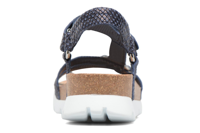 Sandalen Panama Jack Sally snake blau ansicht von rechts