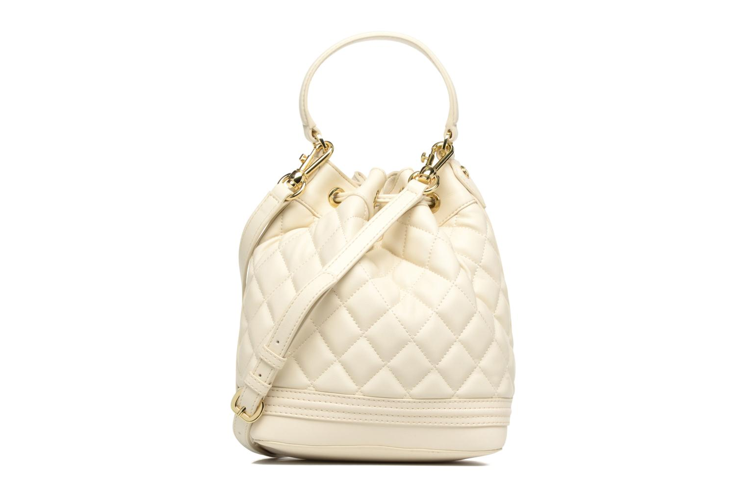 Sacs à main Love Moschino Super quilted Bucket bag Blanc vue face
