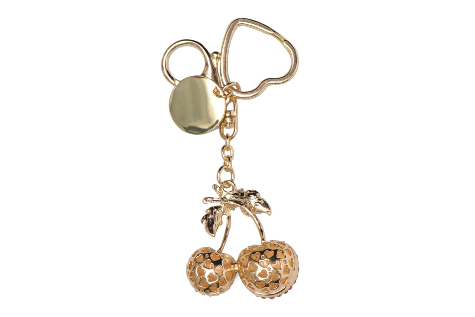 Divers Love Moschino Keyholders Cherries Or et bronze vue portées chaussures