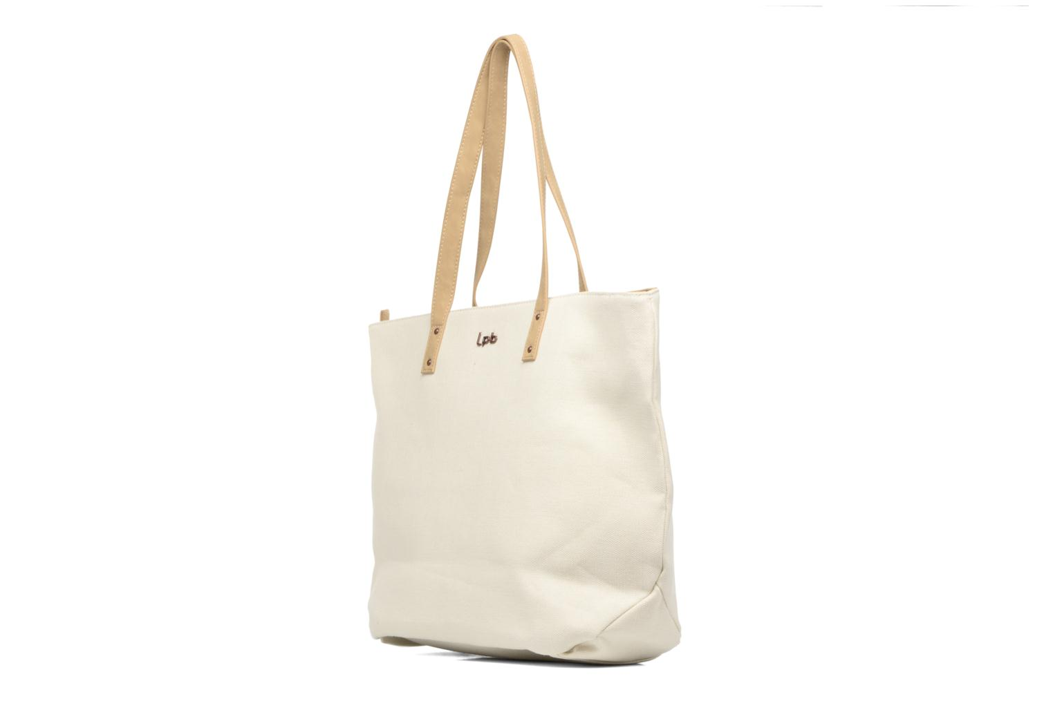 Handbags Les P'tites Bombes Cabas logo caviar Beige view from the right