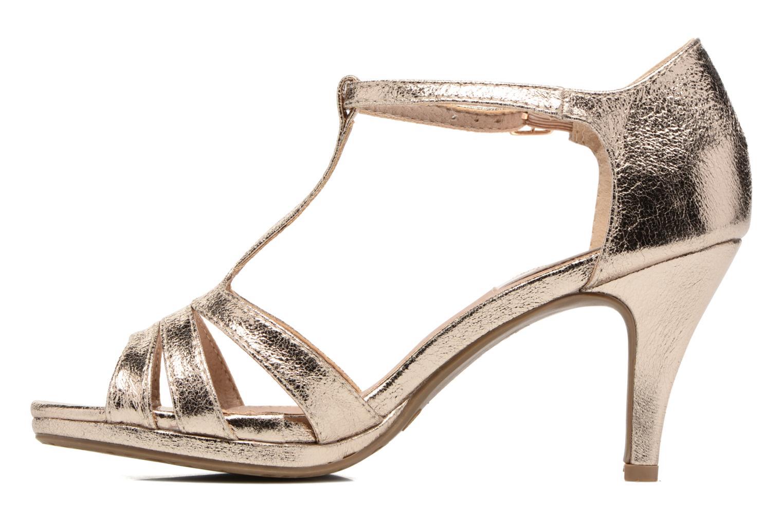 Sandales et nu-pieds Xti Omoi 30568 Or et bronze vue face