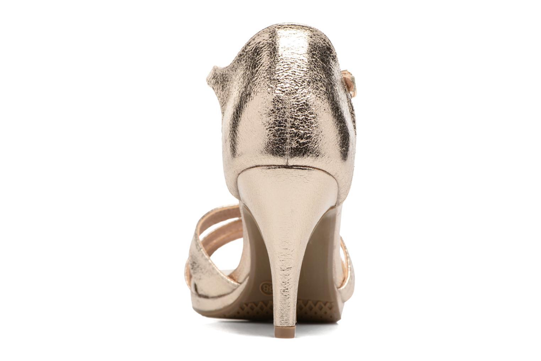 Sandales et nu-pieds Xti Omoi 30568 Or et bronze vue droite