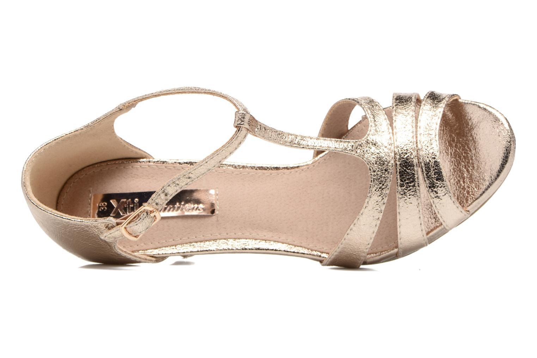 Sandales et nu-pieds Xti Omoi 30568 Or et bronze vue gauche
