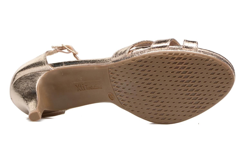 Sandales et nu-pieds Xti Omoi 30568 Or et bronze vue haut