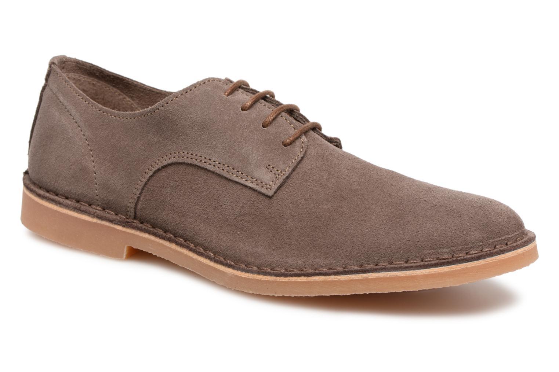 Snøresko Selected Homme Royce 2 Brun detaljeret billede af skoene