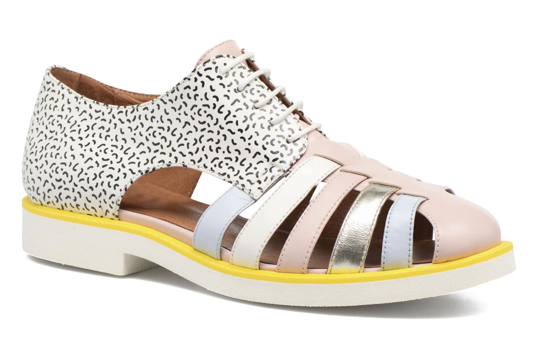 90's Girls Gang Chaussures à Lacets #6 Mescai rose + mescai bleu + galami argent + blanc + print fideua