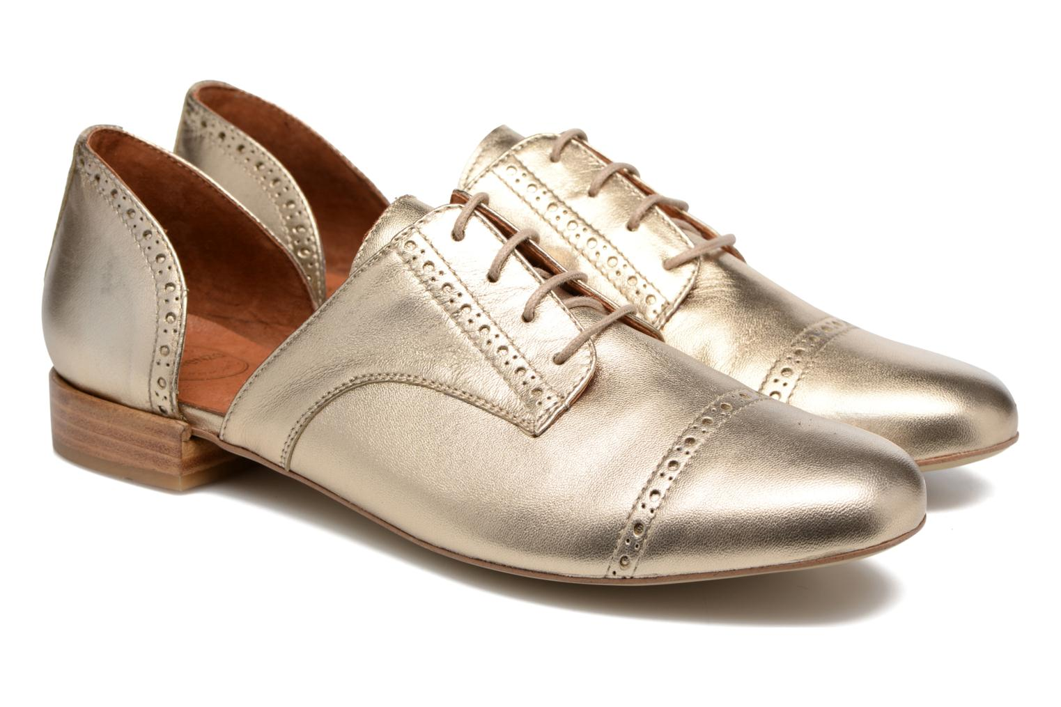 Lace-up shoes Made by SARENZA Mariachichi #3 Bronze and Gold back view