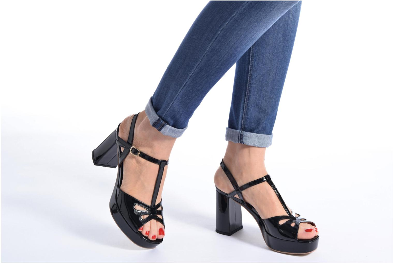 Sandales et nu-pieds Made by SARENZA Tennesse Sister #3 Noir vue bas / vue portée sac