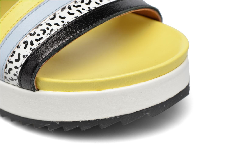 Pastel Belle #7 Mescai noir + print fideua + mescai bleu + mescai jaune + blanc