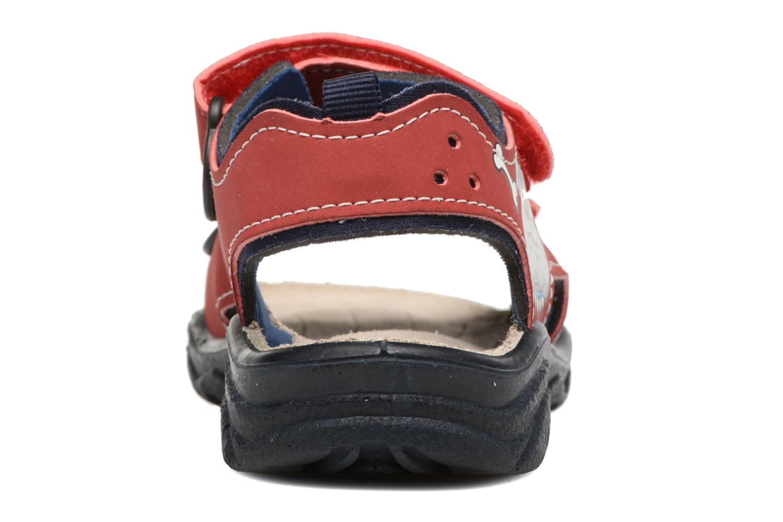 Sandales et nu-pieds Ricosta Surf Rouge vue droite