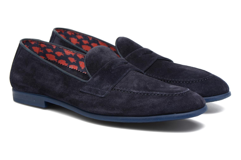 Loafers Doucal's MAURO Elba Bluette Svart 3/4 bild